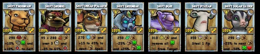 Wizard101 All Level 98 Shift Spells - Khrysalis Part 2
