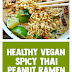 Healthy Vegan Spicy Thai Peanut Ramen