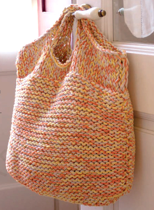 Knit a Giant Bag to Hold Your Knitting Stuff -  Free Pattern
