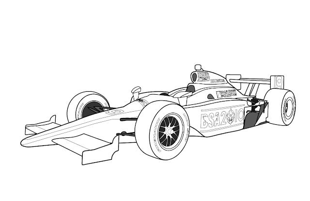 dibujos de formula 1 para colorear