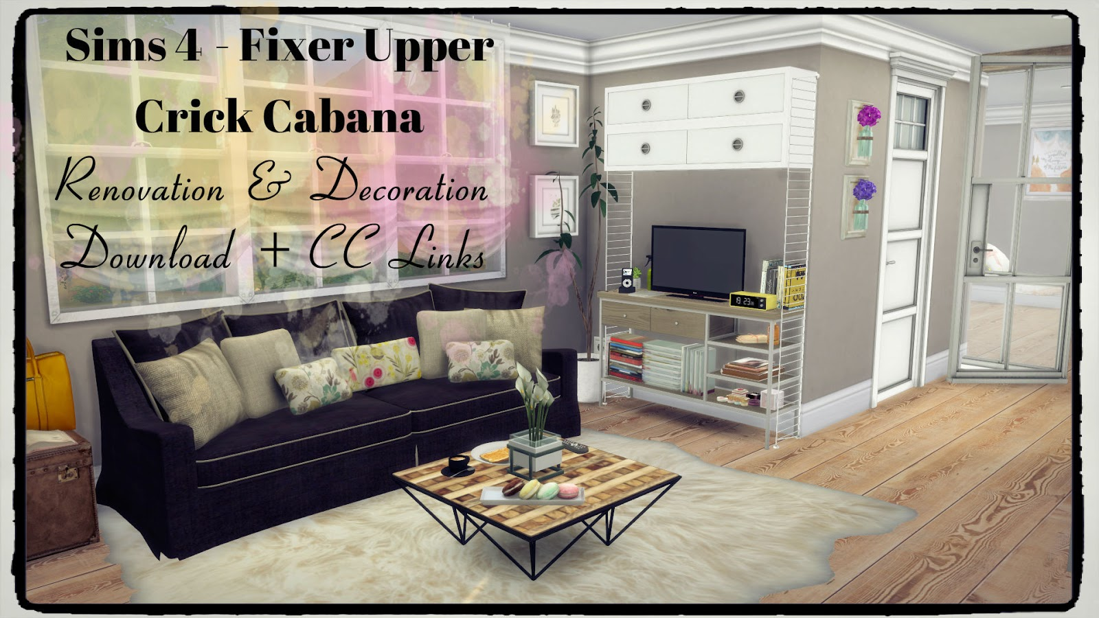 Sims 4 fixer upper crick cabana renovation decoration Download home decoration pics