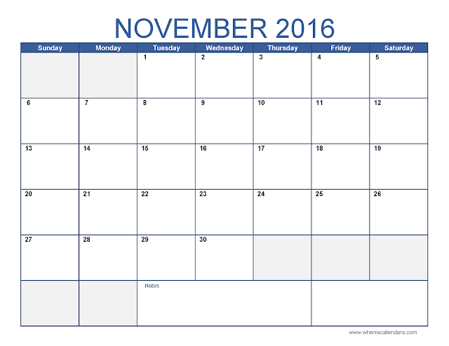 November 2016 Calendar, November 2016 Calendar PDF, November 2016 Calendar excel, November 2016 Calendar word, November 2016 Calendar template, November 2016 Calendar printable