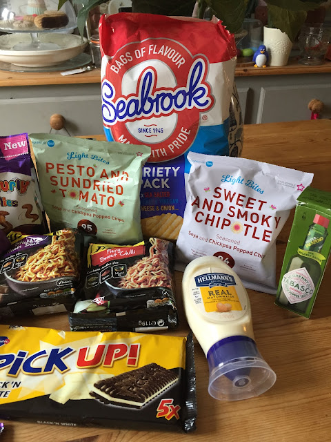 Contents of the August 2017 Degustabox