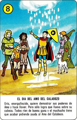Baraja Dragones y mazmorras Heraclio Fournier Carta amarilla 8