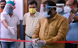 विधायक ने एल-1 कोविड अस्पताल का किया उद्घाटन     #NayaSaberaNetwork