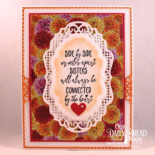 Our Daily Bread Designs Stamp Set: Sister Time, Paper Collections: God's Beauty Coloring Pages, Fall Favorites, Custom Dies: Pierced Rectangles, Vintage Borders, Vintage Labels, Flower Lattice