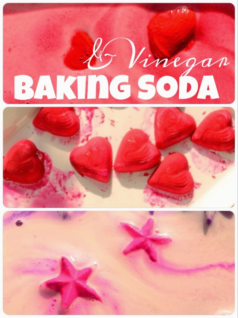 The Practical Mom: Fizzy Hearts & Stars: Baking Soda & Vinegar Experiment!