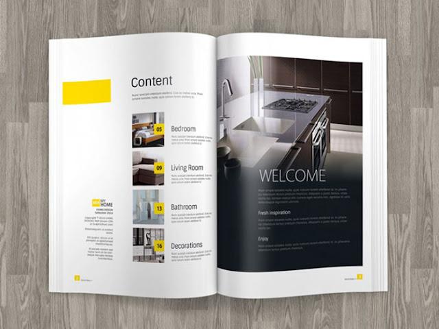 A4 Magazine Mockup PSD