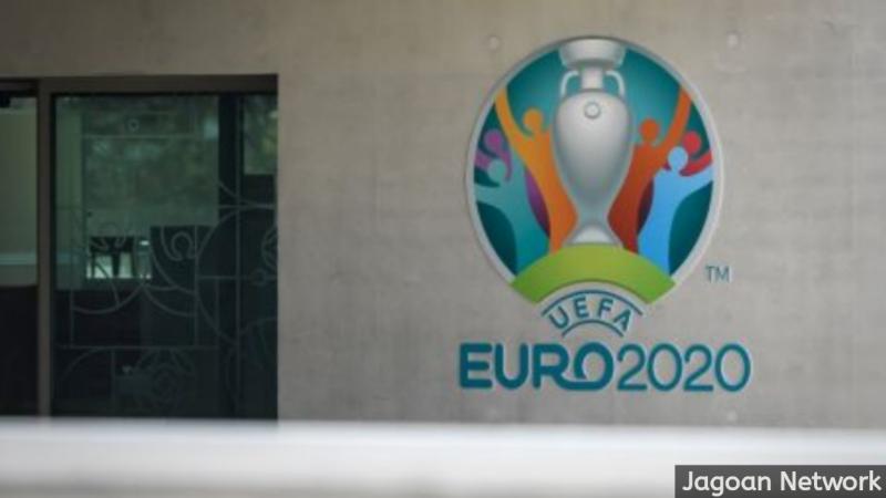 Logo Piala Eropa 2020. [FABRICE COFFRINI / AFP]