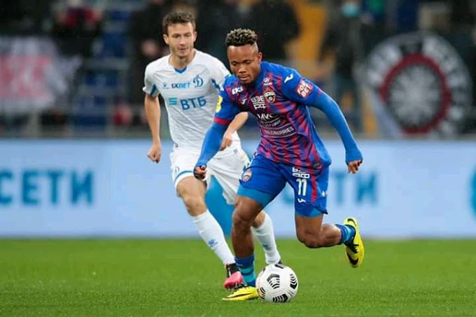 Super Eagles Bag of Tricks Scores For CSKA Moscow in Derby Win