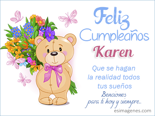 Feliz Cumpleanos Karen Imagenes Con Nombres Tarjetas De Cumpleanos