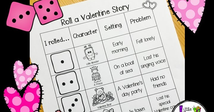 Classroom Freebies Roll Me A Valentines Day Story