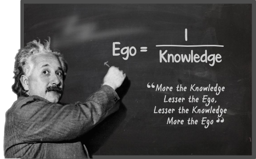 Ego, Albert Einstein, Knowledge