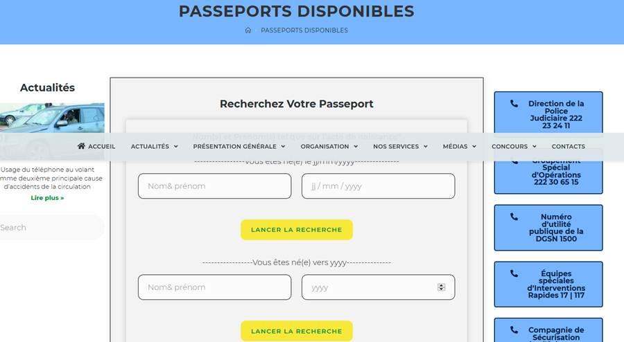 Comment vérifier la disponibilité d'un passeport camerounais en ligne?