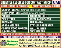 URGENTLY REQUIRED FOR CONTRACTING CO UAE