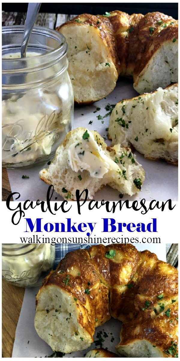 Garlic Parmesan Pull Apart Monkey Bread Biscuits Recipe