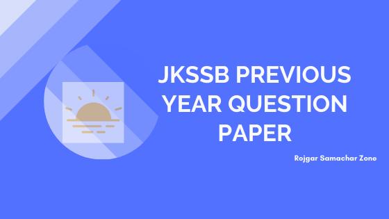 jkssb previous year question paper pdf