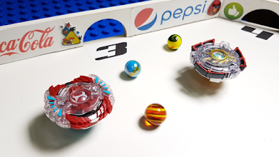 MARBLE RUN vs BEYBLADES - Epic Battle with BEYBLADES EXPLOSION - Higgins Marble Race Tournament