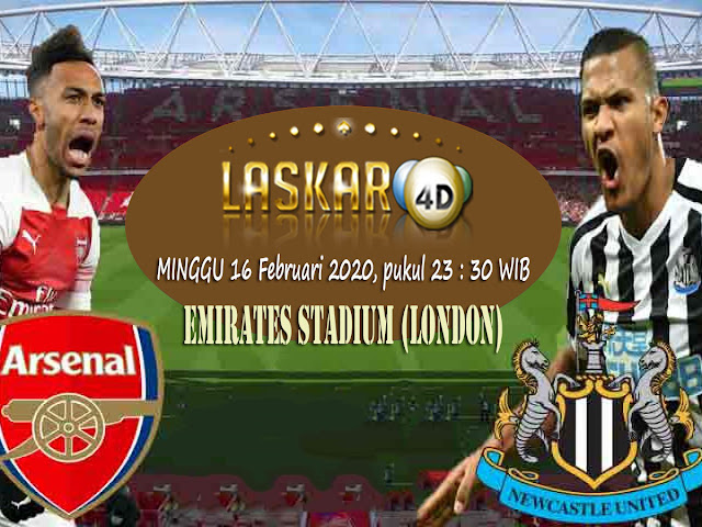 Prediksi Pertandingan Arsenal vs Newcastle United 16 Februari 2020