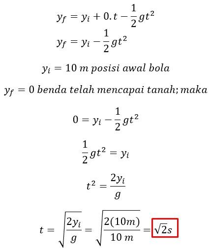 Soal Fisika USBN SMA - Gerak Parabola