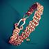 Copper Creations Viking Knit Pure Copper Mens Kada Bracelet