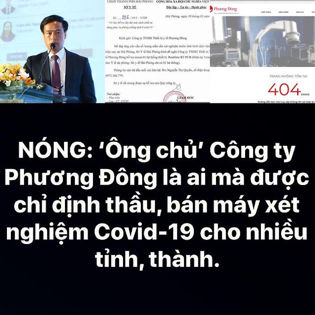 Ông Nguyễn Xuân Thành là TGĐ Công ty Phương Đông, nơi đã bán máy xét nghiệm Covid-19 cho nhiều tỉnh