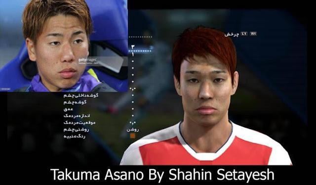PES 2013 Takuma Asano New Face