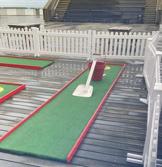 Crazy Golf on Hastings Pier. Photo by David Gomm, August 2021