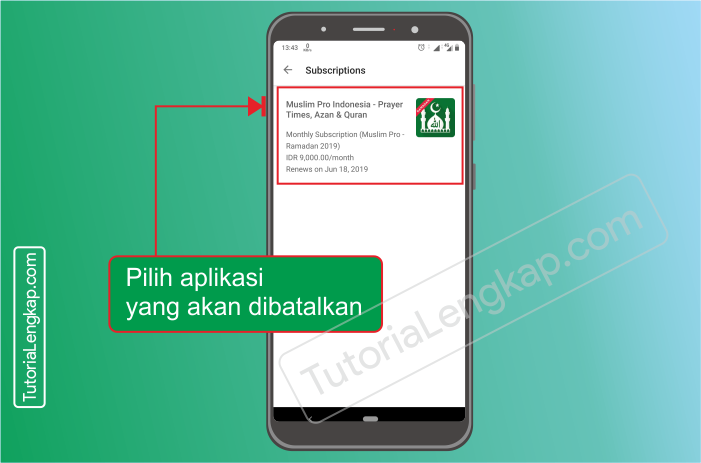 Tutorialengkap.com  2 cara berhenti berlangganan layanan aplikasi berbayar dari google pay store