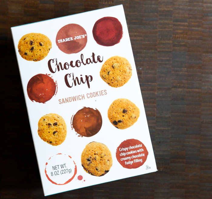 trader joe's review: chocolate chip sandwich cookies