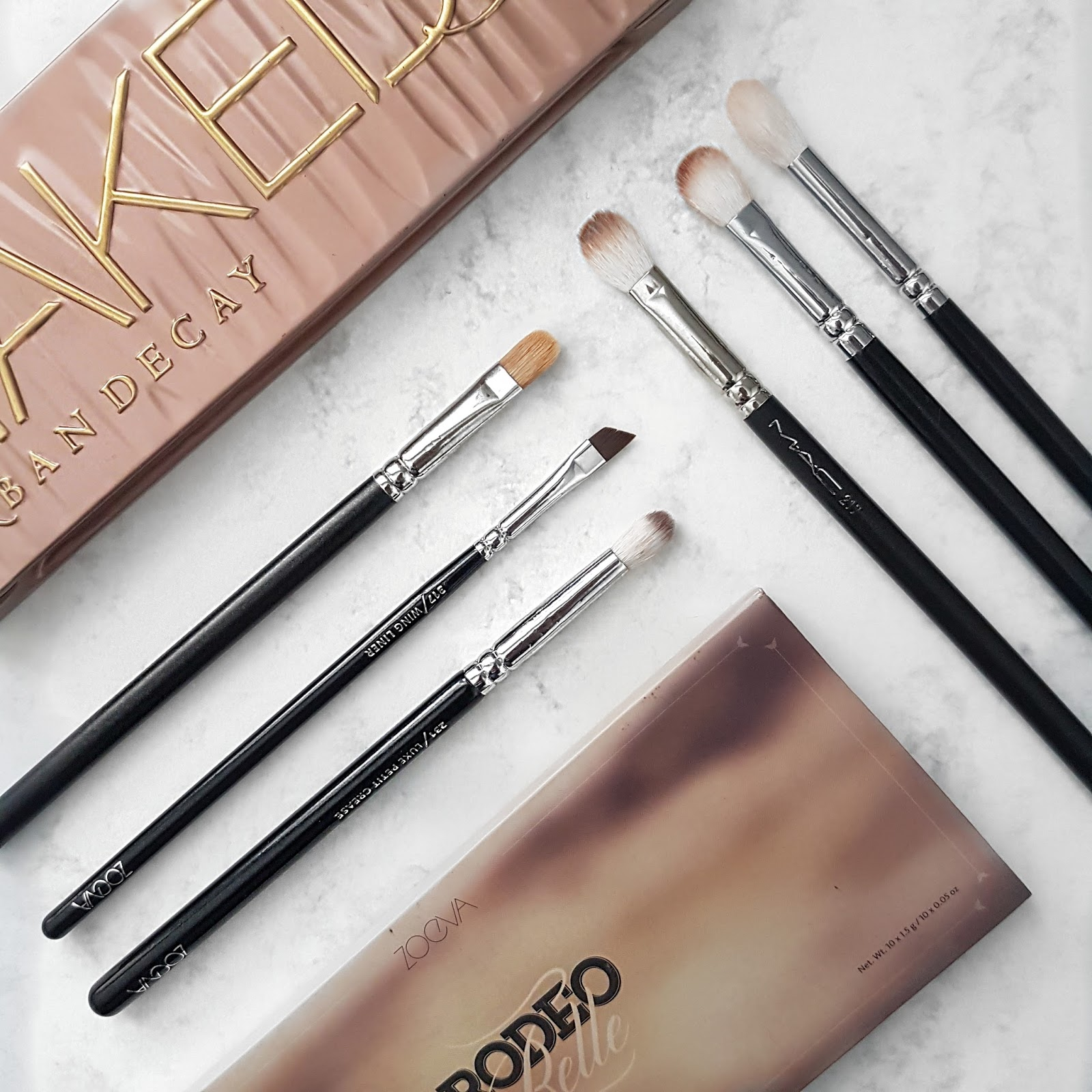 Zoeva make up brushes and eye shadow palettes