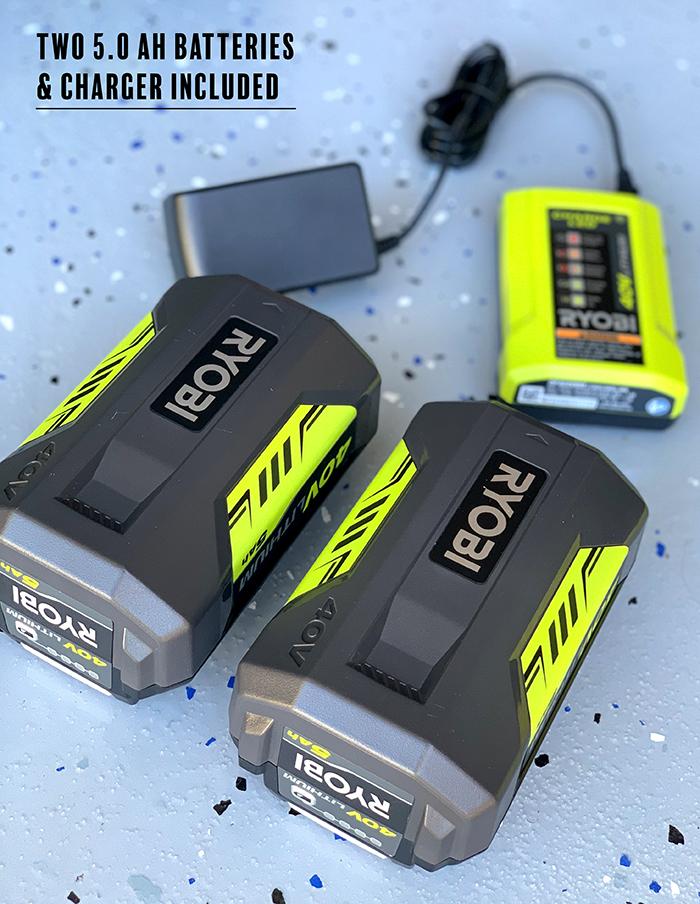 40-Volt 5.0Ah Lithium Ion batteries + Charger