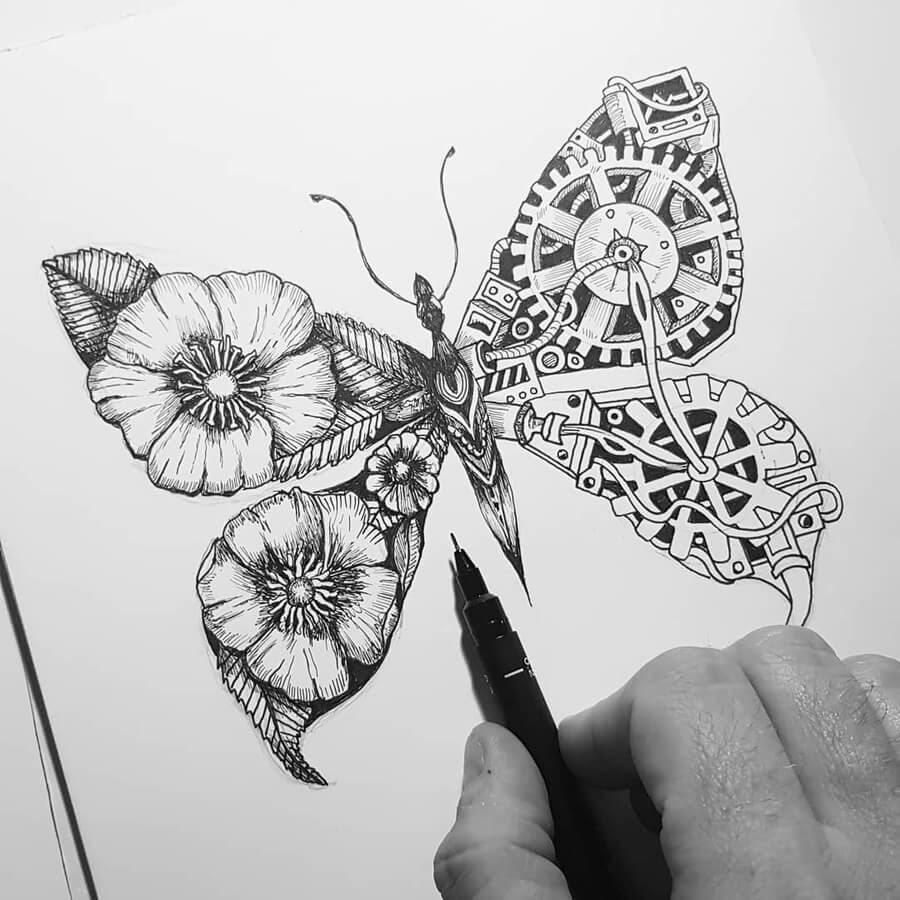 11-Butterfly-Steampunk-Steve-Turner-www-designstack-co