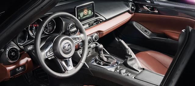 Interior elegante en el nuevo Mazda Mx5 Miata RF 2017