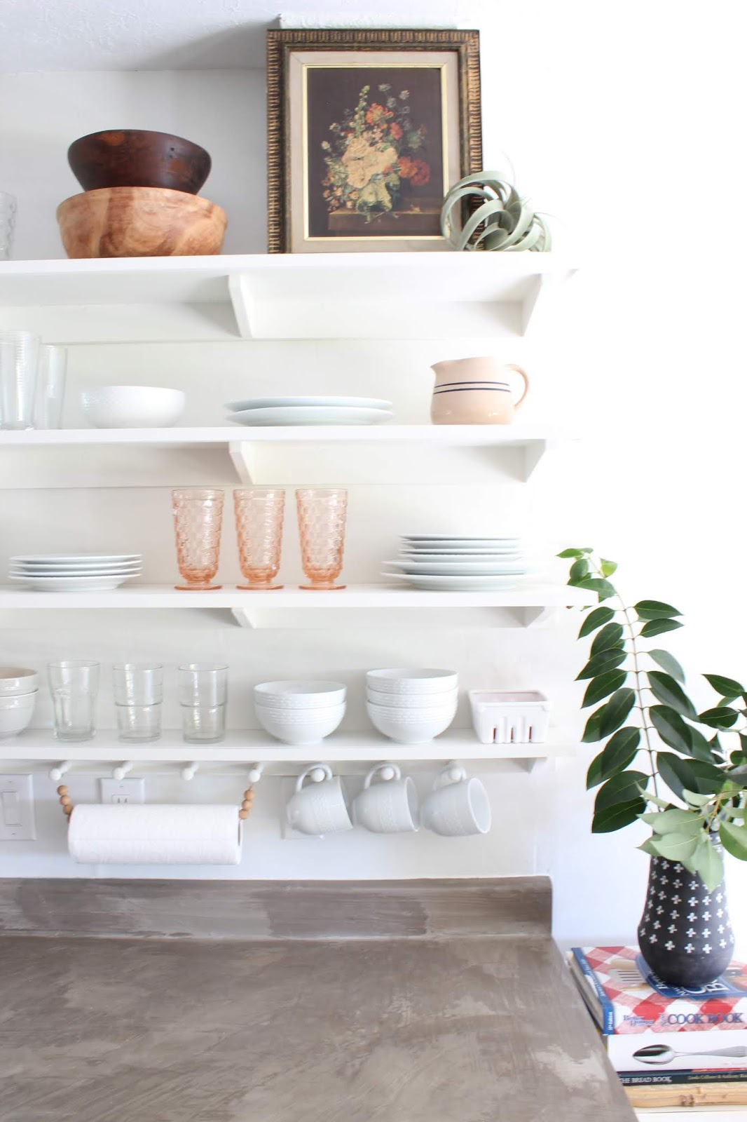 One room challenge budget kitchen makeover shaker style shelving | House Homemade