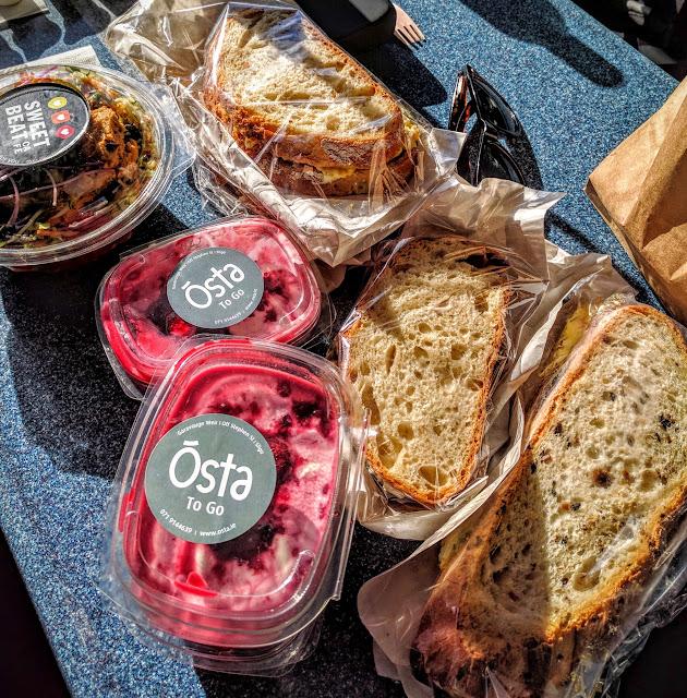 Yogurt and sandwiches from Osta cafe in County Sligo, Ireland