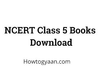 NCERT Class 5 Books Download