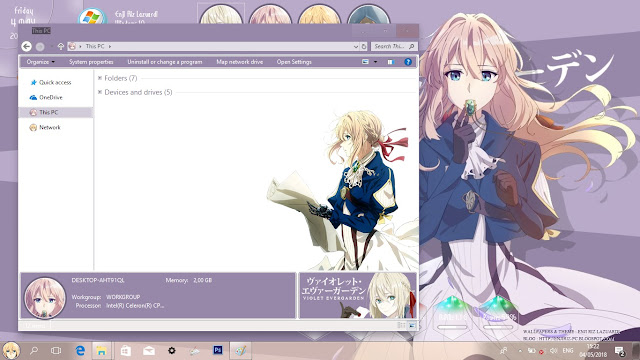 Windows 10 Ver. 1803 Theme Violet Evergarden by Enji Riz