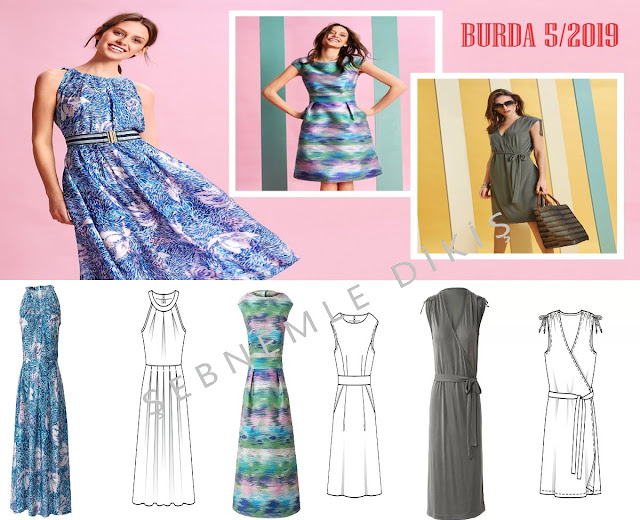 burda  styl 5/2019 elbiseler
