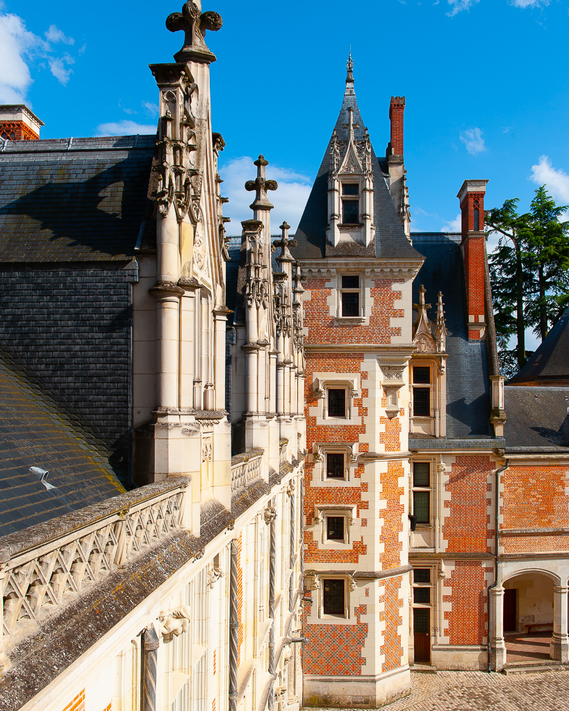a photo of the exterior of the chateau de blois loire valley france