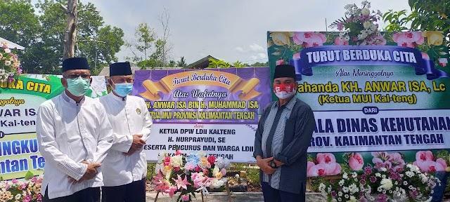 Ketua DPW LDII Turut Menghantar Pemberangkatan Jenazah Almarhum Ketua MUI