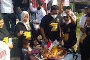 Sebagai Rasa Syukur Hari Jadi Partai Gerindra ke-13, PAC Belawan Potong Nasi Tumpeng