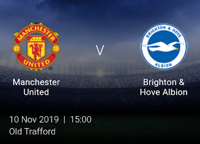 LIVE MATCH: Manchester United Vs Brighton Premier League 10/11/2019