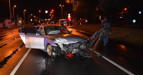 Megcsúszott egy BMW, karambol lett a vége a Füredi útnál