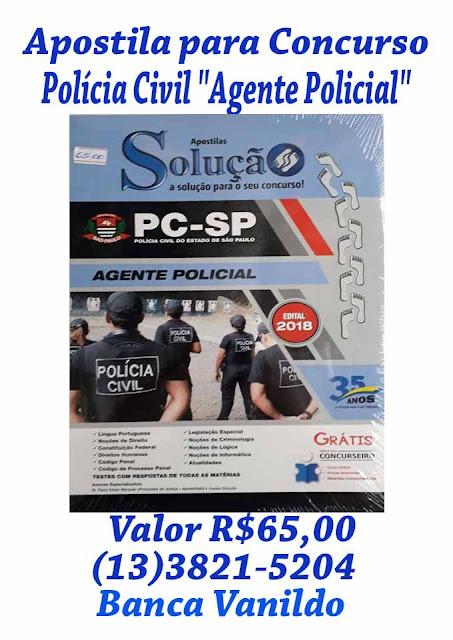 """Apostila para Concurso de Polícia Civil """"Agente Policial"""""""