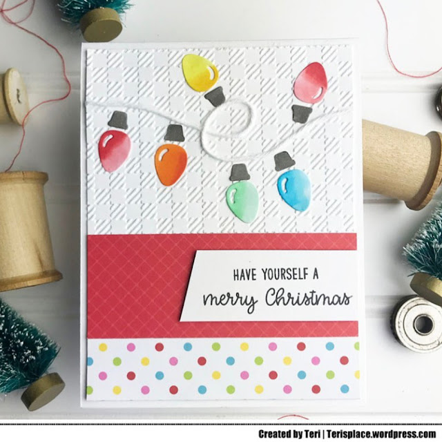 Sunny Studio Stamps: Buffalo Plaid Embossing Folder Christmas Customer Card by Teri Anderson