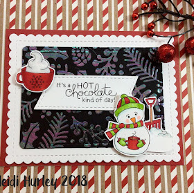 It's a hot chocolate kind of day by Frames & Flags, Frozen Friends, Cup of Cocoa, and Holiday Foliage by Newton's Nook Designs; #newtonsnook