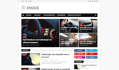 Enside Blogger Template