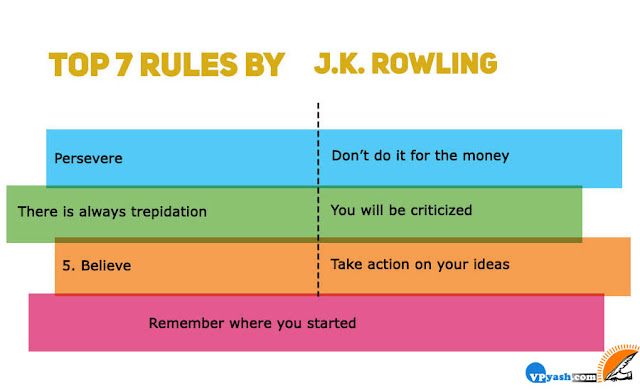 JK Rowlingtop 7 inspiring rules for success