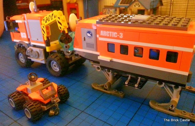 A modified LEGO Arctic Outpost set 60035 Articulated trailer